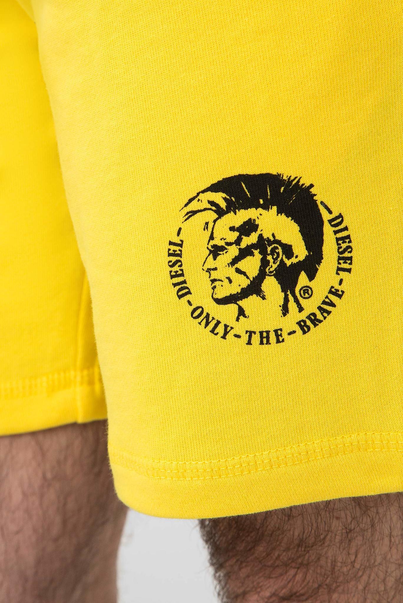 Мужские желтые шорты UMLB-PAN Diesel
