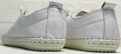Женские кожаные кроссовки мокасины белые Rozen 115 All White.
