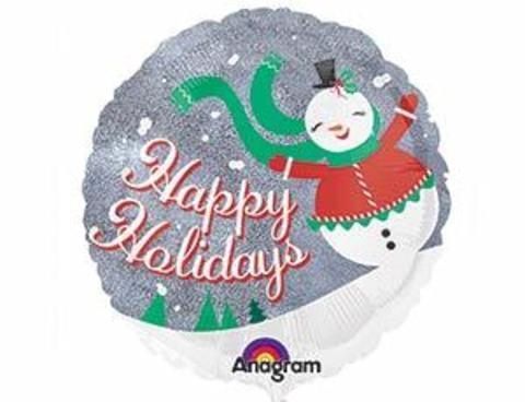 Фольгированный шар Снеговичок