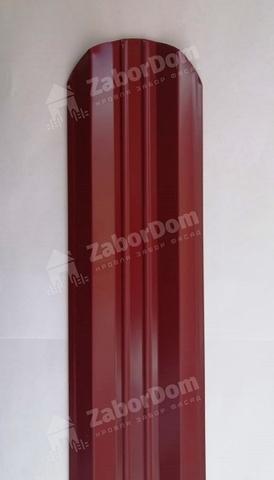 М-образный штакетник металлический 95 мм RAL 3005 двухсторонний 0.5 мм