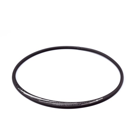 Ожерелье PHITEN RAKUWA NECKLACE S SLASH LINE, w lame (черно-серый)