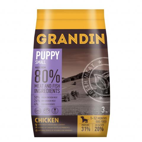 Grandin Puppy Small корм для щенков мелких пород, с курицей, 3 кг