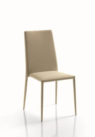 Стул MALIK 40.07 (TR505 белый, экокожа) (обеденный, кухонный, для гостиной), Материал каркаса: Металл в обивке, Материал сиденья: Экокожа, Цвет сиденья: Белый TR 505, Цвет: Белый, Материал каркаса: Металл