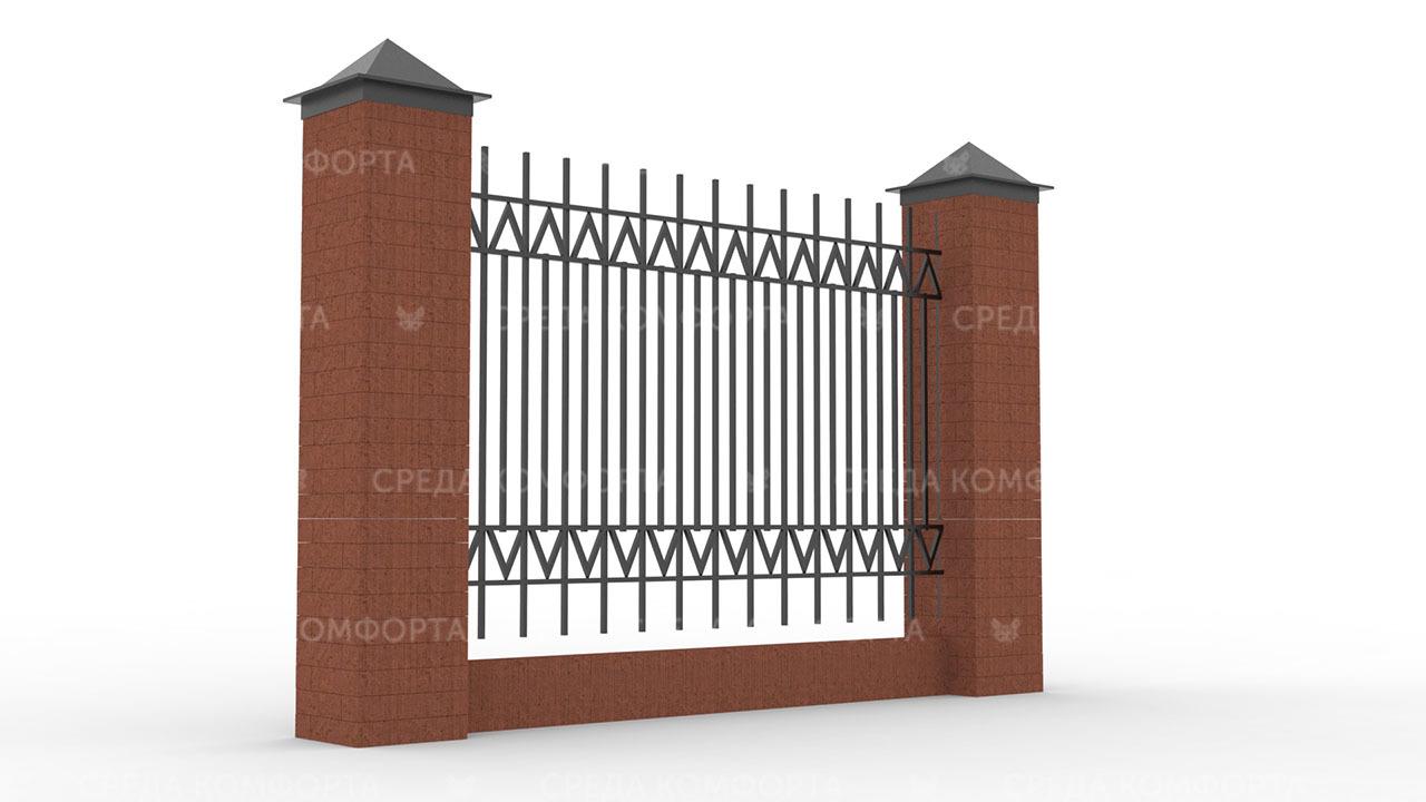 Забор из профильной трубы ZBR0148