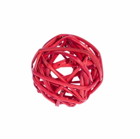 Плетеные шары из ротанга (набор:12 шт., d5см, цвет: красный)