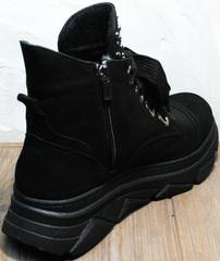 Женские ботинки на шнурках осень Rifellini Rovigo 525 Black.