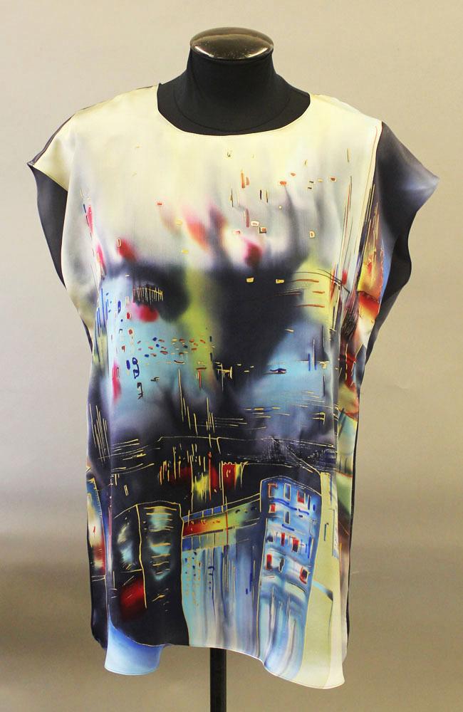 Шелковая блузка батик Нью Йорк П-182