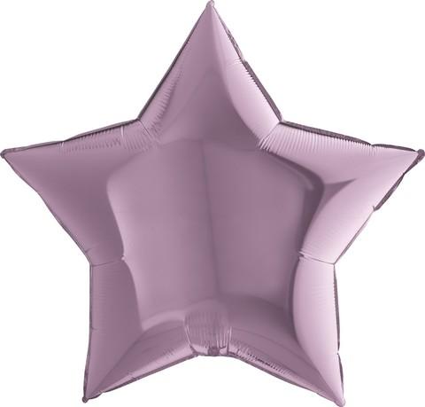 Воздушный шар звезда большая, Сиреневый, 91 см