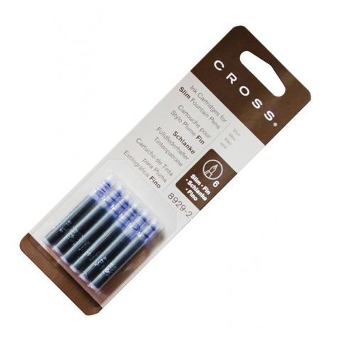 Cross Чернила (картридж) для перьевой ручки Classic Century/Spire, синий, 6 шт в упаковке123