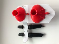 Набор закручивающихся лыжных наконечников KV+ Complete set QCD, диаметр 9.5 mm