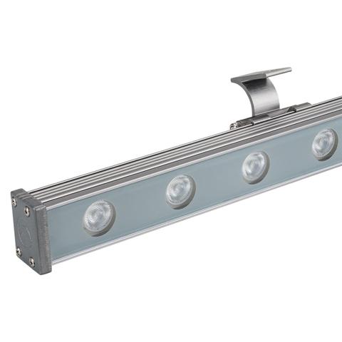 Светодиодный прожектор AR-LINE-1000S-18W-24V RGB (Grey, 30 deg, DMX512) (ARL, Закрытый)