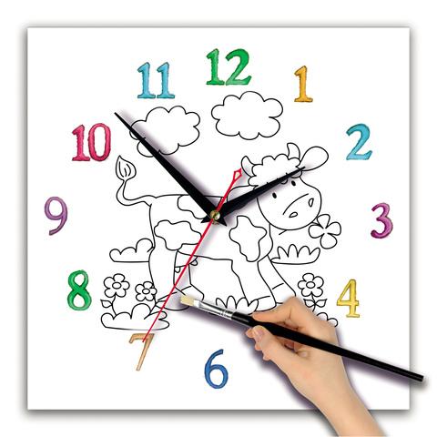Детская раскраска часы