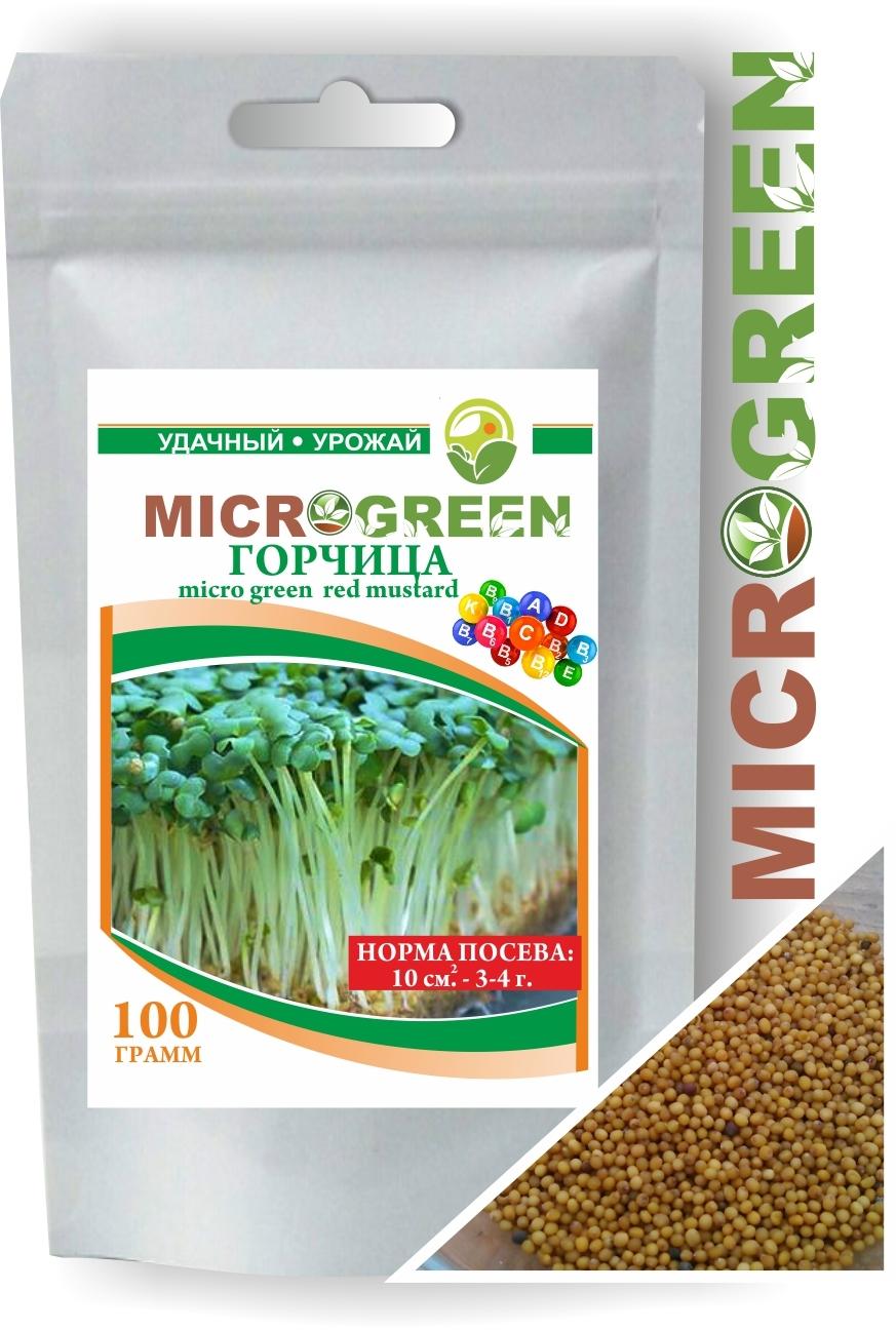 Семена Микрозелени Горчица, 100 г. LUCKY HARVEST (Украина)