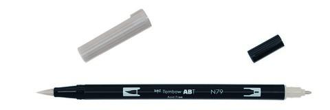Маркер-кисть Tombow ABT Dual Brush Pen-N79, теплый серый 2