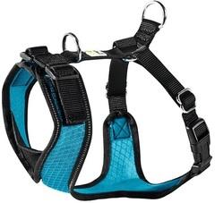 Шлейка для собак, Hunter Manoa S (38-47 см), нейлон/сетчатый текстиль, голубой