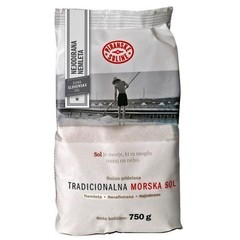 Соль морская крупная НЕйодированная 750 кг (Словения)