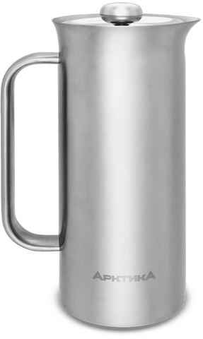 Термос френч-пресс Арктика (1,1 литра), стальной