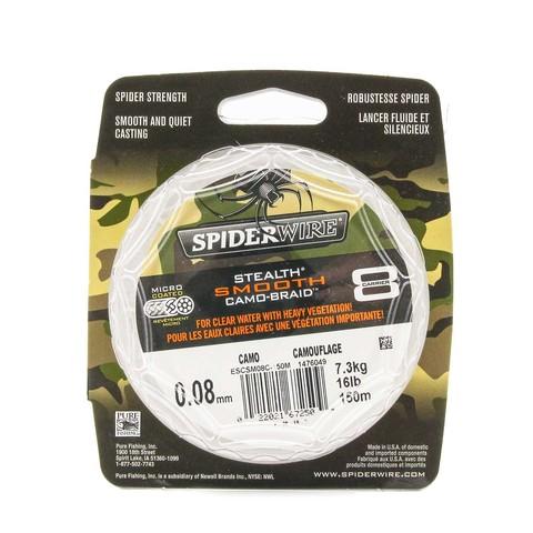 Плетеная леска Spiderwire Stealth Smooth 8 Braid Камуфляжная 150м 0,08мм 7,3кг