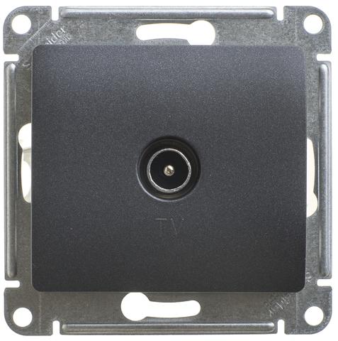 Розетка TV проходная 4DB. Цвет Антрацит. Schneider Electric Glossa. GSL000792