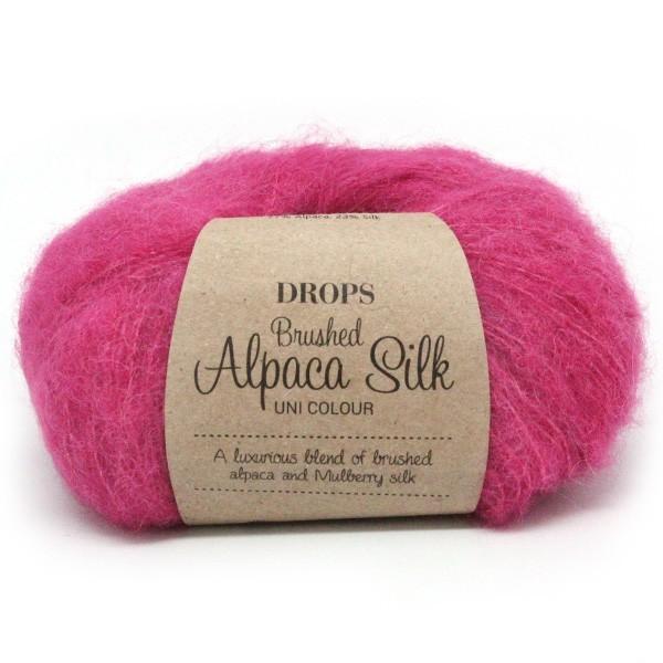 Пряжа Drops Brushed Alpaca Silk 18 фуксия