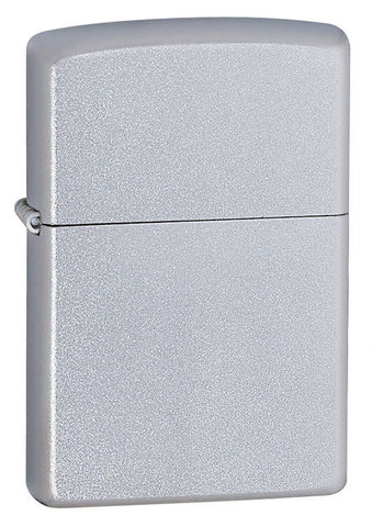 Зажигалка Zippo с покрытием Satin Chrome, латунь/сталь, серебристая, матовая, 36x12x56 мм123