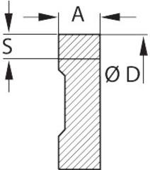 Фрезерная СМП без профиля 3,5 мм