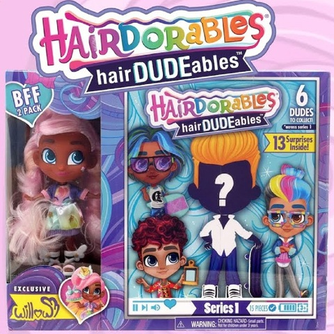 Кукла-сюрприз HairDUDEables 1 серия Мальчик и Уиллоу
