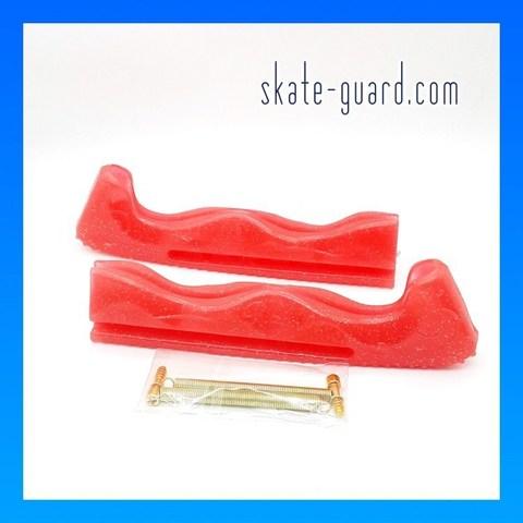 Защита лезвий Skate-Guard (красный с блёстками)