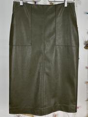 Полуприлегающая юбка из экокожи