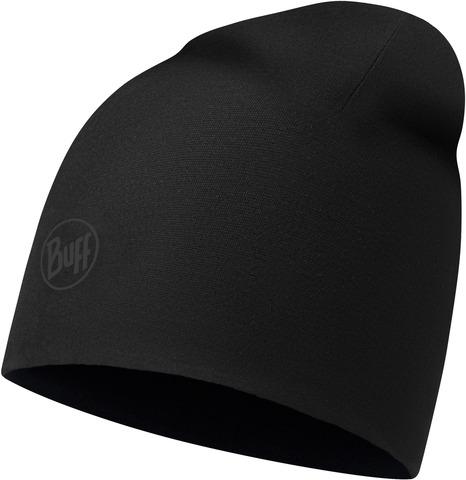 Тонкая флисовая шапочка Buff Hat Polar Microfiber Solid Black фото 1