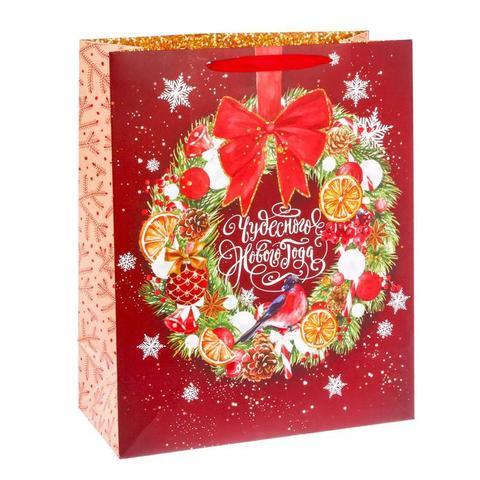 Пакет «Чудесного Нового Года», 40×49×19 см