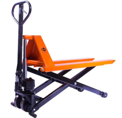 Тележка гидравлическая 1000 кг TOR JF с ножничным подъемом (полиуретан.колеса)