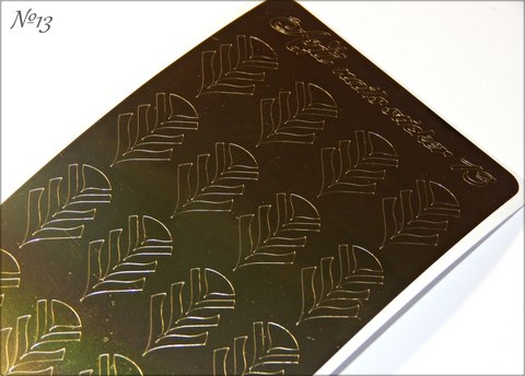 Стикер Arti Nails №13 GOLD
