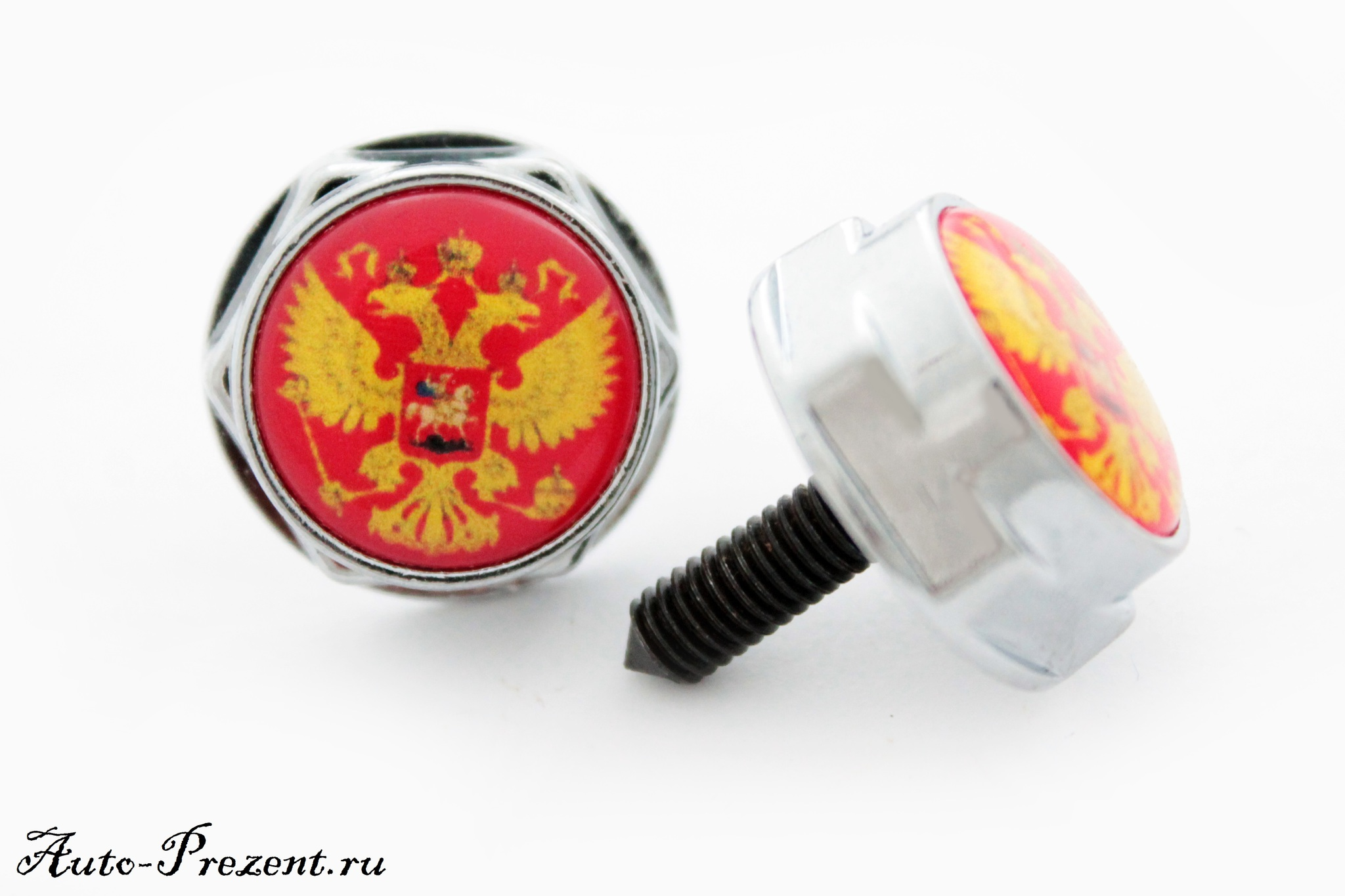 Болты для крепления госномера ГЕРБ РОССИИ