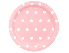 Тарелка Горошек розовая