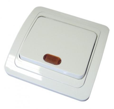 Выключатель 1-кл. с подсветкой 10А белый