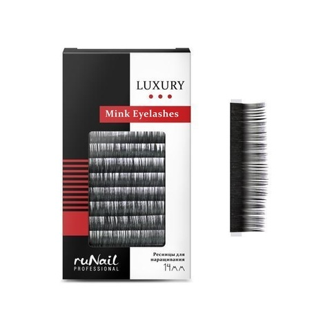Ресницы для наращивания Luxury, норка 0,15 мм, №14, 12 линий, Ru Nail