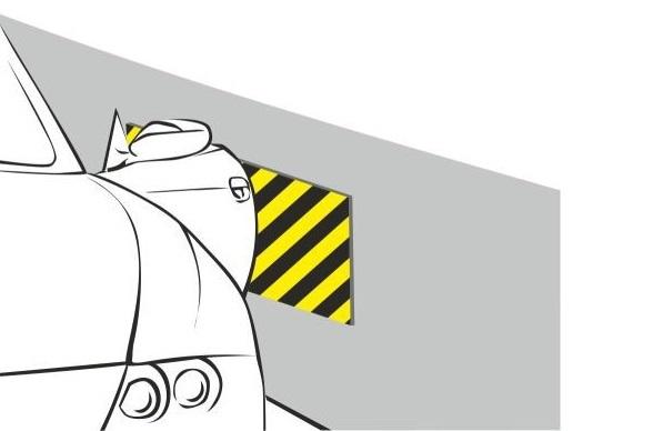 Отбойник настенный (мат) Толщина 38 мм Размер 330х250 мм