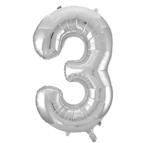 Цифры Серебро, 86 см