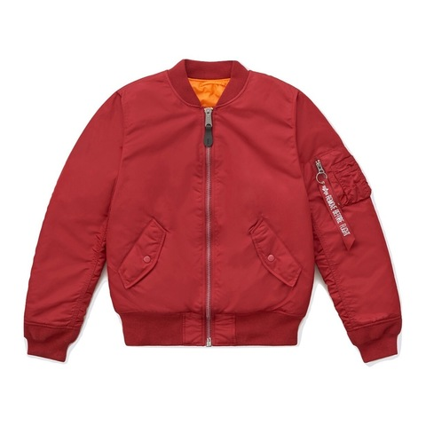 Бомбер Alpha Industries MA-1 W Commander Red (Красный)