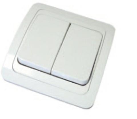 Выключатель 2-кл. 10А белый