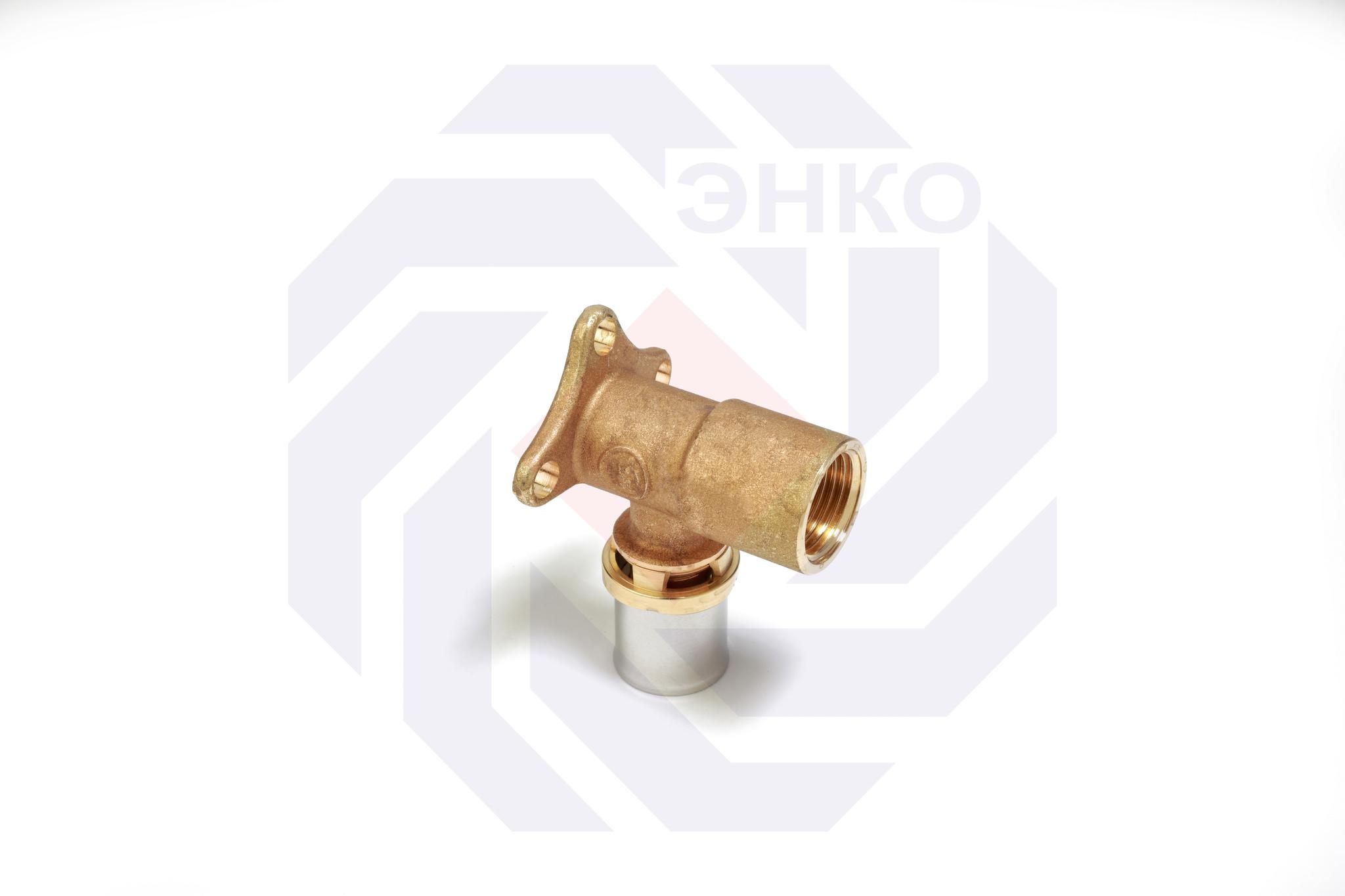 Пресс-фитинг отвод 90° ВР и креплением GIACOMINI RM 16⨯½