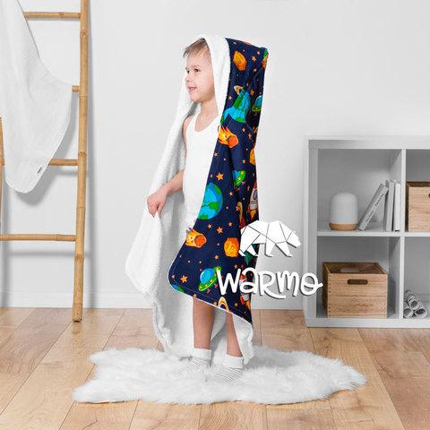 Рушник дитячий банний з капюшоном Warmo™ КОСМОС 100x100см