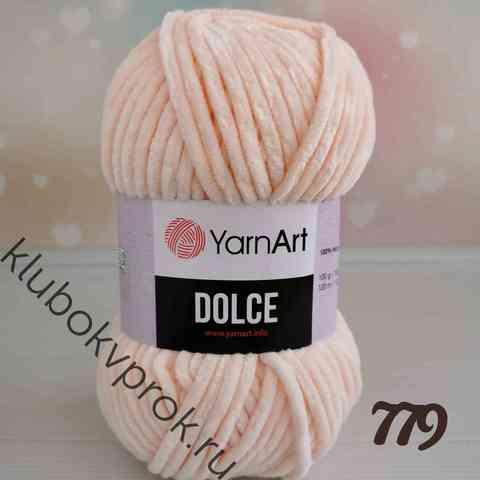 YARNART DOLCE 779, Светлый персик