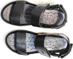 Открытые босоножки сандалии мужские кожаные Zlett 7083 Black.