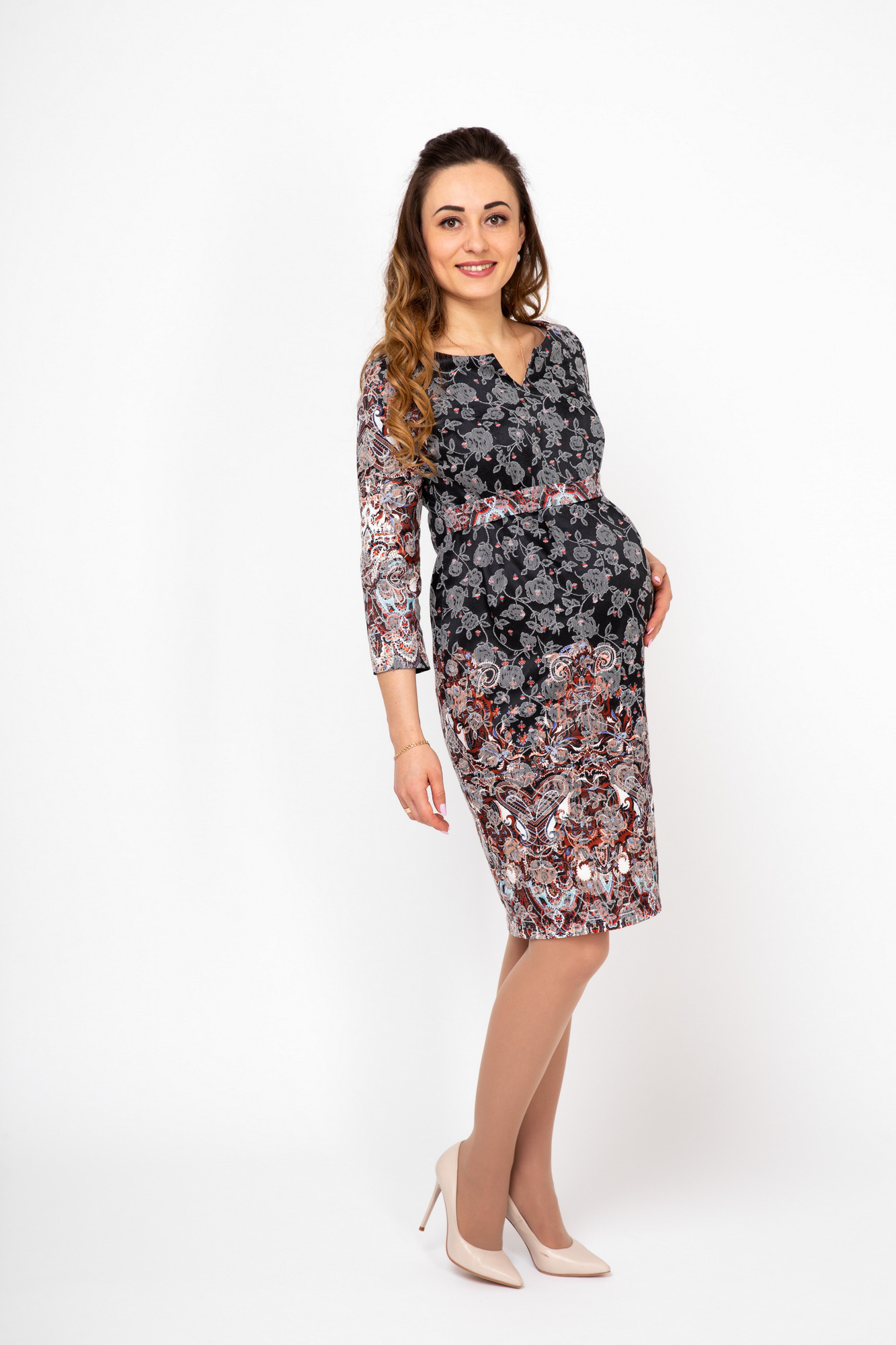 Платье для беременных 08285 черный
