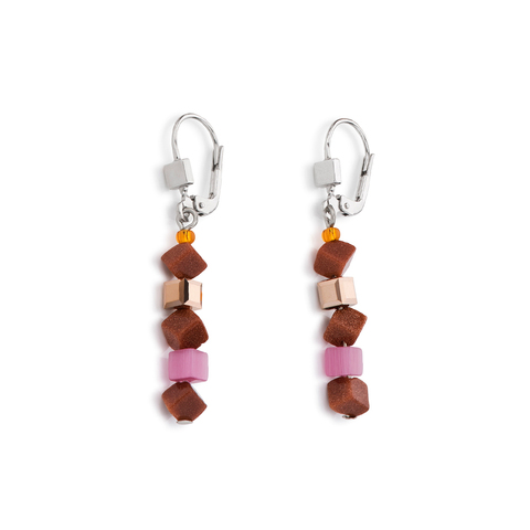 Серьги Coeur de Lion 4911/20-0219 цвет коричневый, розовый