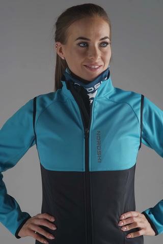 Жилет разминочный Nordski Premium Breeze/Black W женский
