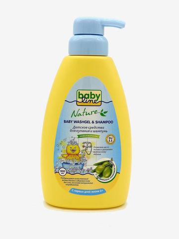 Детское средство для купания и шампунь Babyline Nature 500 мл с масло оливы