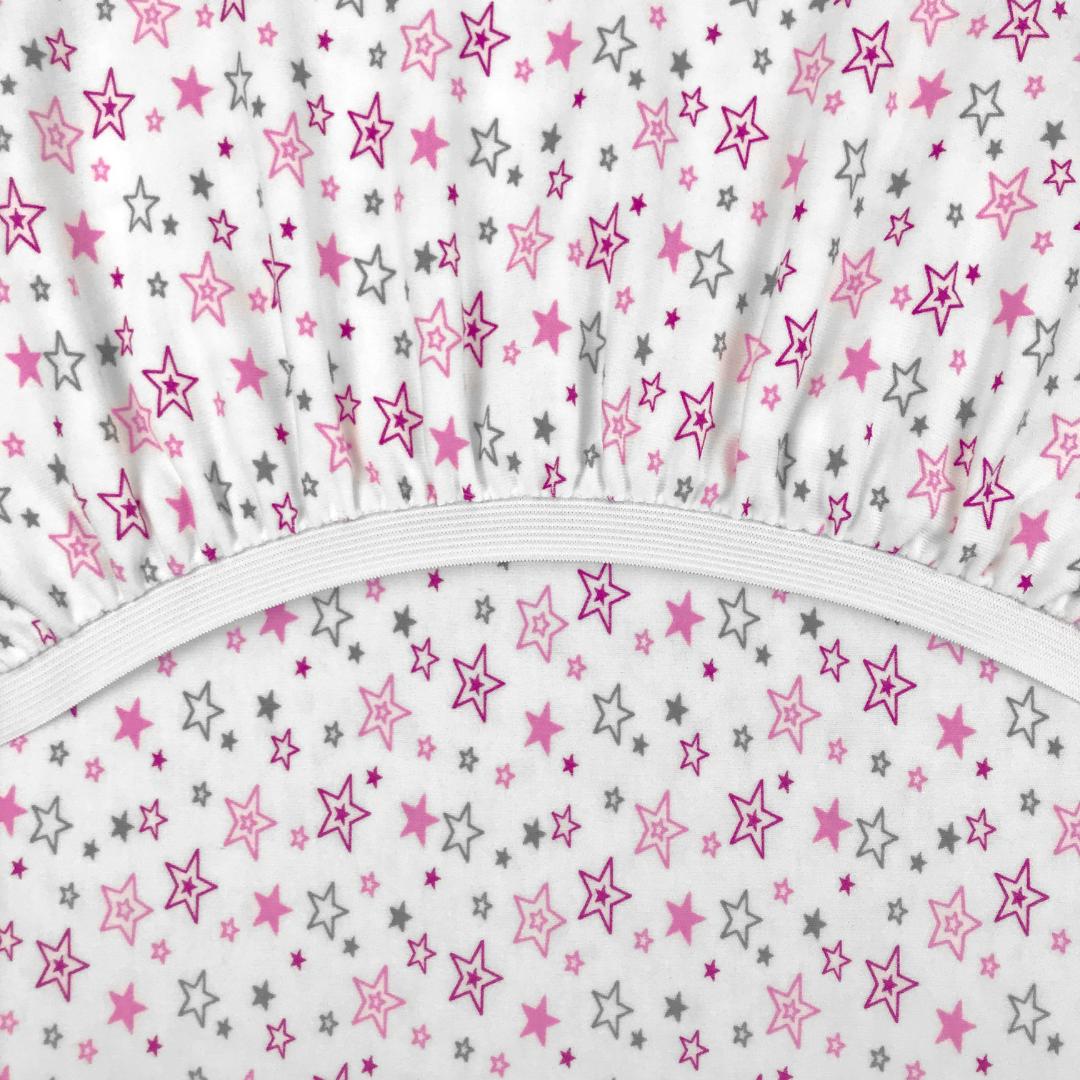 PREMIUM звездопад - Детская простыня на резинке 65х125